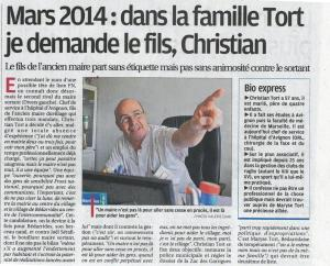 041213 Prov candidature Christian Tort