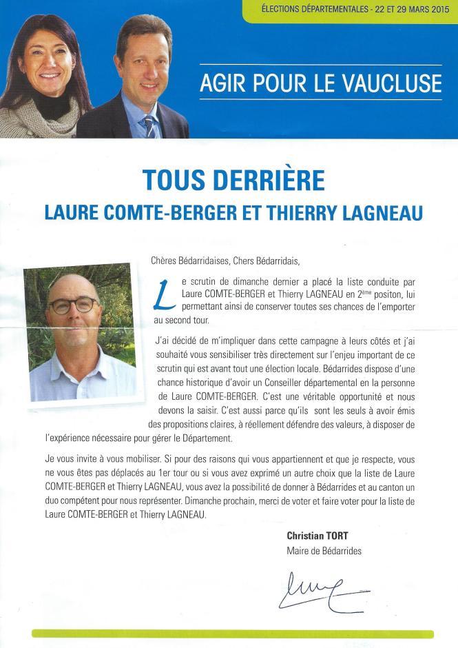 2eme tour departementale tracts Tort Lagneau 1